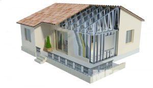 Дом с металлокаркасом из стали